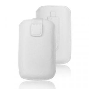 Калъф тип джоб FORCELL Deko - HTC Desire C / Samsung Galaxy S5360 Galaxy Y / S6500 Galaxy Mini 2 / LG L3 бял