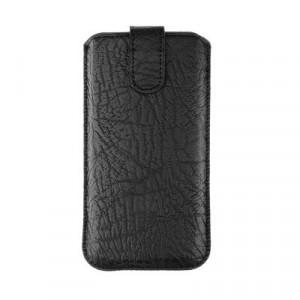 Калъф тип джоб FORCELL Slim Kora 2 - iPhone 5 / 5s / 5SE / 5C черен
