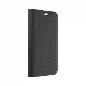 Калъф тип книга Luna Carbon - Samsung Galaxy A12 черен