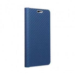 Калъф тип книга Luna Carbon - Xiaomi Mi 10T Pro 5G / Mi 10T 5G син