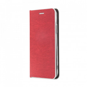 Калъф тип книга Luna Silver - Samsung Galaxy A72 / A72 5G червен