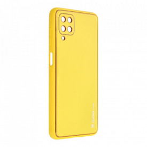 Кожен гръб Forcell LEATHER - Samsung Galaxy A12 жълт