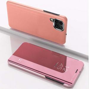 Огледален калъф тип книга Clear View - Samsung Galaxy A12/A12s розов