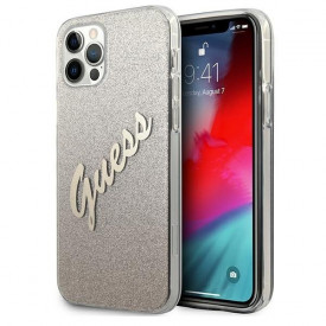 Оригинален гръб GUESS GUHCP12MPCUGLSGO - iPhone 12/12 Pro златен