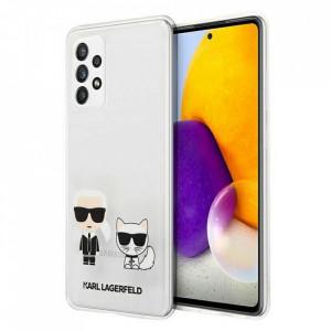 Оригинален гръб Hardcase KARL LAGERFELD KLHCA72CKTR Samsung Galaxy A72 4G/ A72 5G transparent