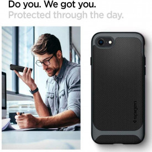 Оригинален гръб Spigen Neo Hybrid - iPhone 7 / 8 / SE 2020 метален