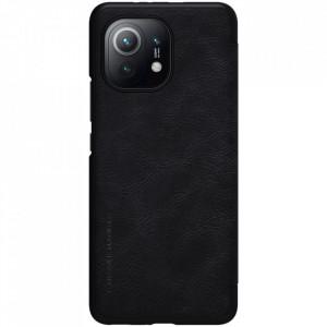 Оригинален кожен гръб Nillkin Qin - Xiaomi Mi 11 черен