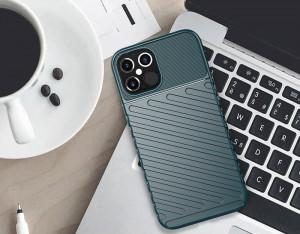 Релефен гръб Thunder - iPhone 12 Pro / iPhone 12 зелен
