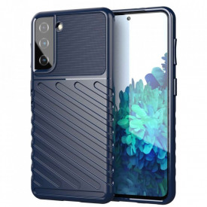Релефен гръб Thunder - Samsung Galaxy S21 Plus син