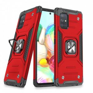 Релефен гръб Wozinsky Ring Armor със стойка - Samsung Galaxy A71 5G червен