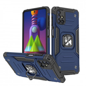 Релефен гръб Wozinsky Ring Armor със стойка - Samsung Galaxy M51 син