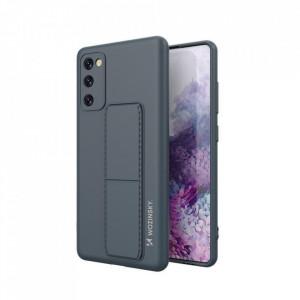 Силиконов гръб със стойка Wozinsky Kickstand - Samsung Galaxy A71 син