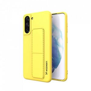 Силиконов гръб със стойка Wozinsky Kickstand - Samsung Galaxy S21 Plus 5G жълт