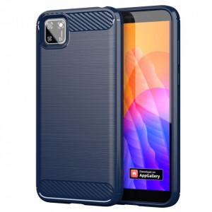 Силиконов гръб Carbon - Huawei Y5p син