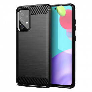 Силиконов гръб Carbon - Samsung Galaxy A72/A72 5G черен