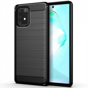 Силиконов гръб Carbon - Samsung Galaxy S10 Lite черен