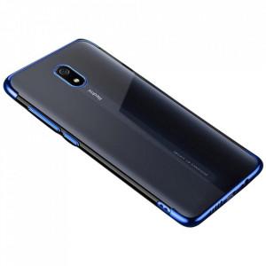Силиконов гръб Clear Color с кант - Xiaomi Redmi 8A син