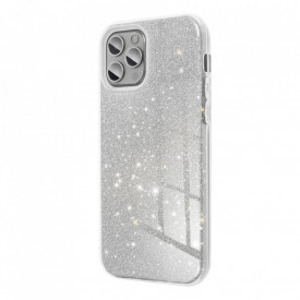 Силиконов гръб FORCELL Shining - Samsung Galaxy A12 сребърен