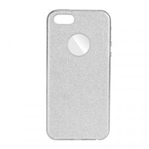 Силиконов гръб FORCELL Shining - Samsung Galaxy A41 сребърен