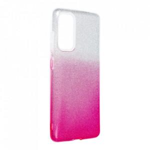 Силиконов гръб FORCELL Shining - Samsung Galaxy S20 FE / S20 FE 5G прозрачен-розов