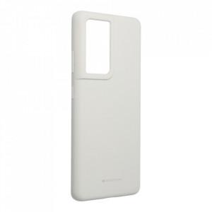 Силиконов гръб Mercury Silicone - Samsung Galaxy S21 Ultra сив