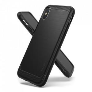 Силиконов гръб Ringke Onyx - iPhone X / XS черен (OXAP0011-RPKG)