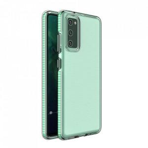 Силиконов гръб Spring с цветна рамка - Samsung A02S мента