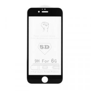 5D Full Glue закален стъклен протектор ROAR - iPhone 6 / 6s черен