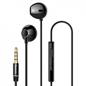 BASEUS Encok H06 Lateral Earphones Earbuds Headphones with Remote Control black (NGH06-01)