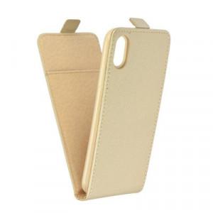 Вертикален калъф Slim Flexi Fresh - iPhone X златист