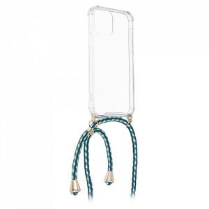 Гръб с връзка FORCELL Cord - Samsung Galaxy A22 зелен