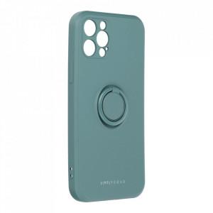 Гръб Roar Amber с държач - iPhone 12 Pro зелен