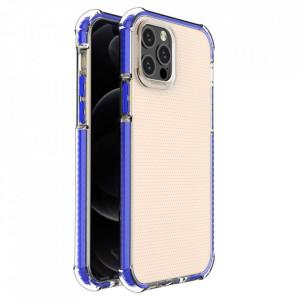 Гръб Spring Armor с цветна рамка - iPhone 12/12 Pro син