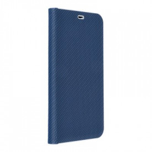 Калъф тип книга Luna Carbon - iPhone 11 Pro Max 2019 син