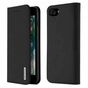 Кожен калъф тип книга DUX DUCIS Wish - iPhone 7 / 8 / SE 2020 черен