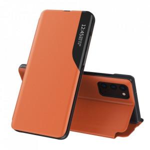 Кожен калъф тип книга ECO - Samsung Galaxy M51 оранжев