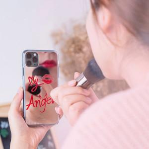 Огледален гръб Kingxbar Angel с оригинални кристали Swarovski - iPhone 11 Pro Max прозрачен