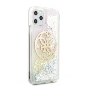 Оригинален гръб GUESS Gradient Liquid Glitter Circle Logo GUHCN58LGIRGP - iPhone 11 Pro