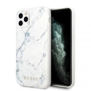 Оригинален гръб GUESS GUHCN65PCUMAWH - iPhone 11 Pro Max бял
