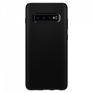Оригинален гръб Spigen Liquid Air - Samsung Galaxy S10 Plus матиран черен