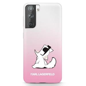 Оригинален твърд гръб KARL LAGERFELD Choupette Fun KLHCS21MCFNRCPI – Samsung Galaxy S21 Plus розов