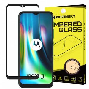 Протектор с пълно покритие и рамка WOZINSKY - Motorola Moto G9 Play / Moto E7 Plus черен (съвместим с гръб)