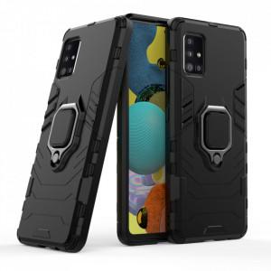 Релефен гръб Ring Armor със стойка - Samsung Galaxy A51 5G черен