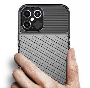 Релефен гръб Thunder - iPhone 12 Pro Max син
