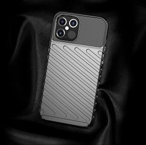 Релефен гръб Thunder - iPhone 12 Pro Max черен