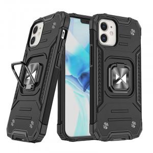 Релефен гръб Wozinsky Ring Armor със стойка - iPhone 12 Mini черен