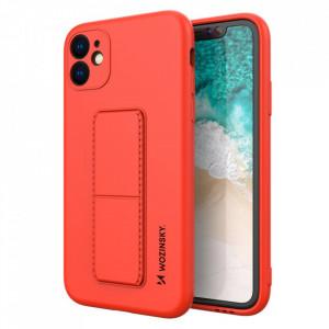 Силиконов гръб със стойка Wozinsky Kickstand - iPhone 12 червен