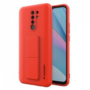 Силиконов гръб със стойка Wozinsky Kickstand - Xiaomi Redmi 9 червен