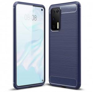Силиконов гръб Carbon - Huawei P40 син