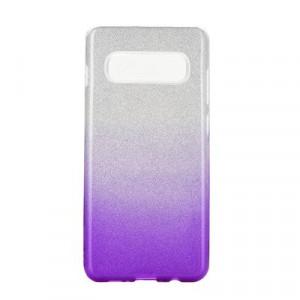 Силиконов гръб FORCELL Shining - Samsung Galaxy S20 Plus / S11 прозрачен-лилав